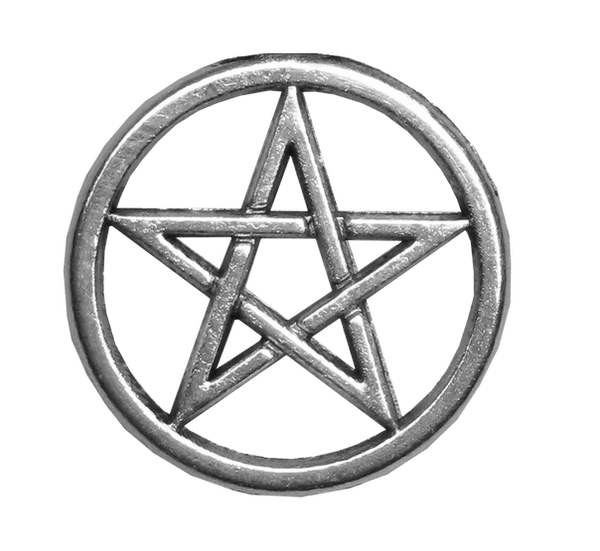 Silver Pentacle unrestricted stock PNG by Michelangeline