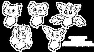 Chibi sticker icon ych - OPEN