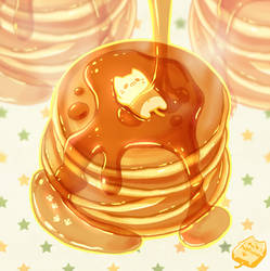 Tabeneko - Pancake by Meoon