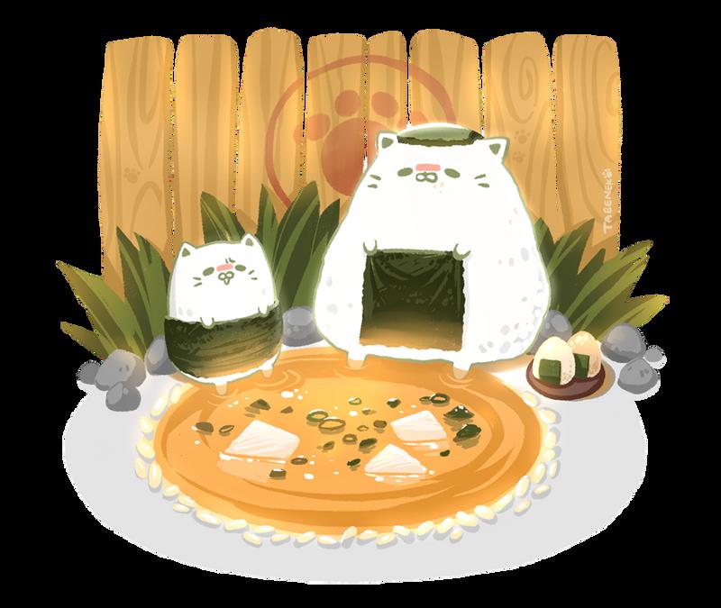 Cat Cartoon Food Gif
