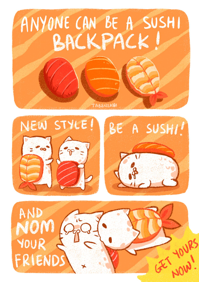 Tabeneko - Sushi Backpack by Meoon