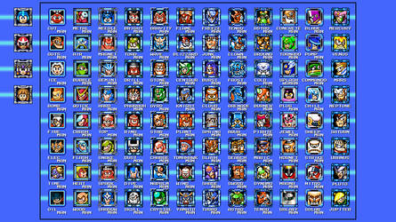 Mega Man Deluxe - Stage Select (Work in Progress) by matheusjose195