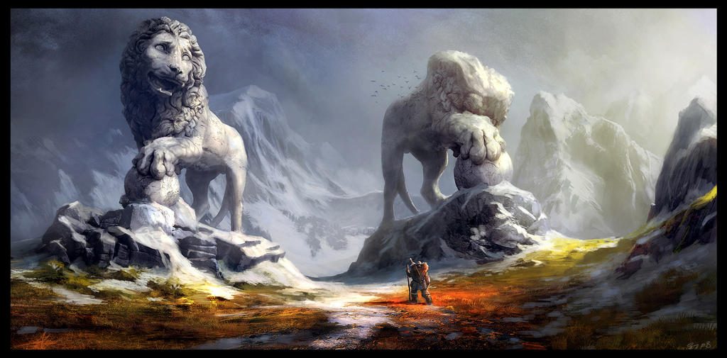 Guardian Lions by Gaius31duke