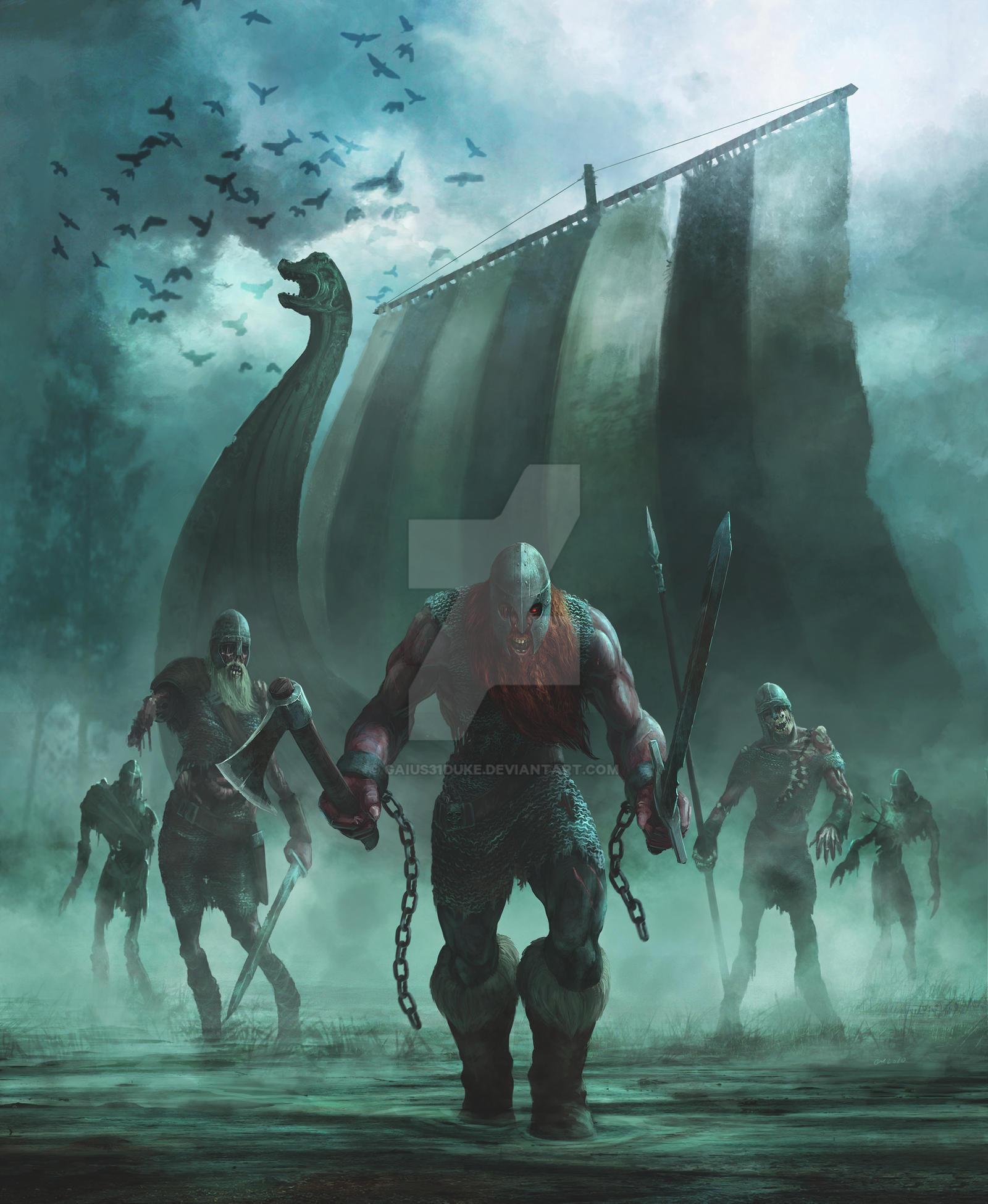 the viking dead book cover by gaius31duke on deviantart