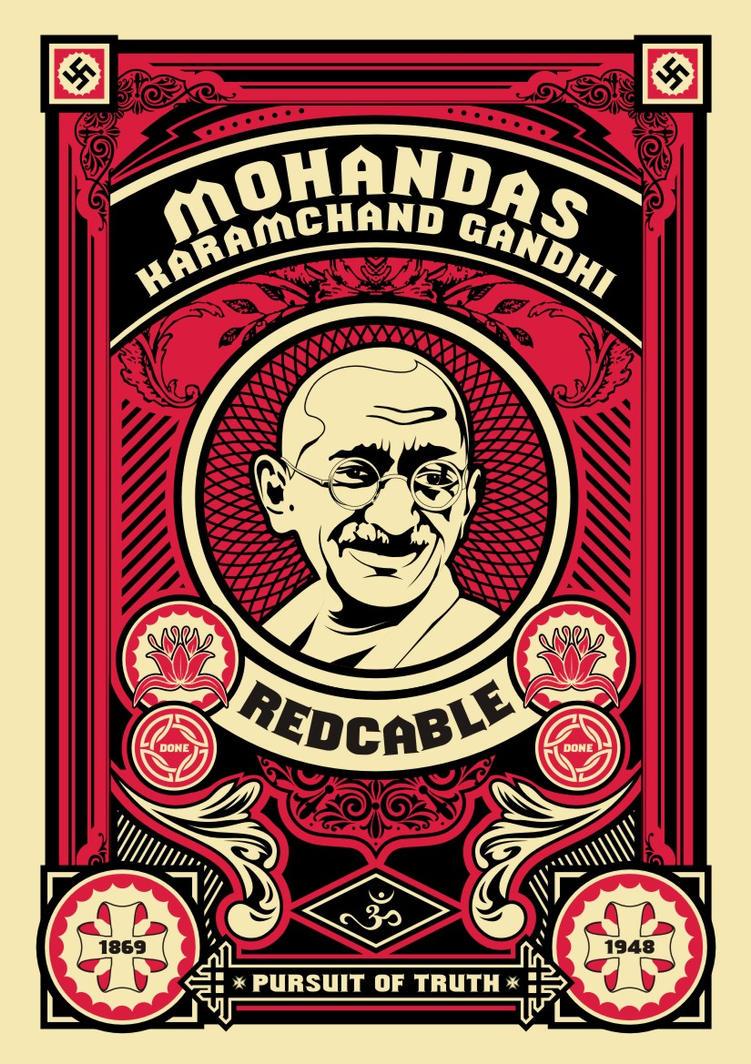 MOHANDAS KARAMCHAND GANDHI by donedazzit