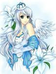 Pure white iris