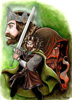 Aragorn, from ranger to king of Gondor. by MeikC