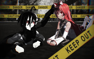 :MMD: Strange encounter by RockfanXYuki