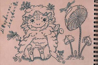 Lil' forest spirit by Tigresa89