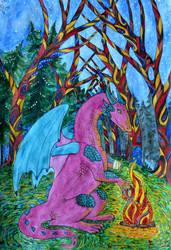 Aleona and magic forest by Tigresa89