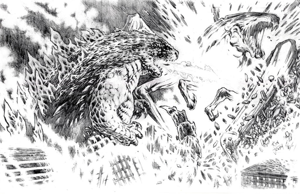 Godzilla Vs Muto 2014 Coloring Pages
