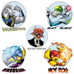 P.R.I.M.A.L. FORCE - character badges