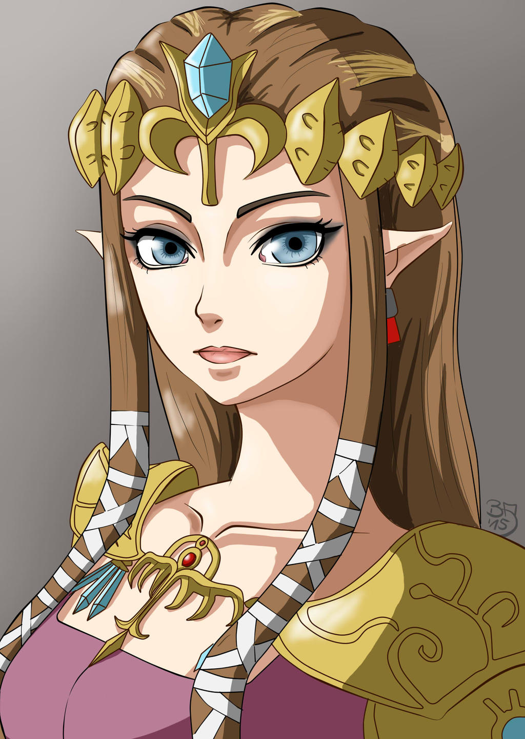 princess zelda by bakaarts on deviantart