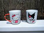 Hello Kitty and Kuromi Mugs