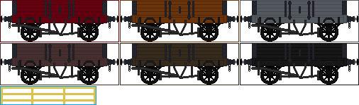 Caledonian Railway Diagram 24 Open Goods wagon