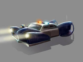 Police Car Concept Art by xvortexbladex