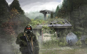 Mist Stalker Overgrown Forest Scene by xvortexbladex