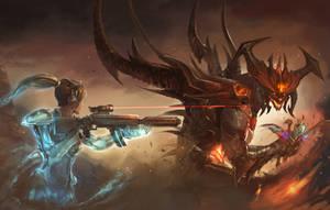 Nova + Blightwing vs Diablo by xvortexbladex