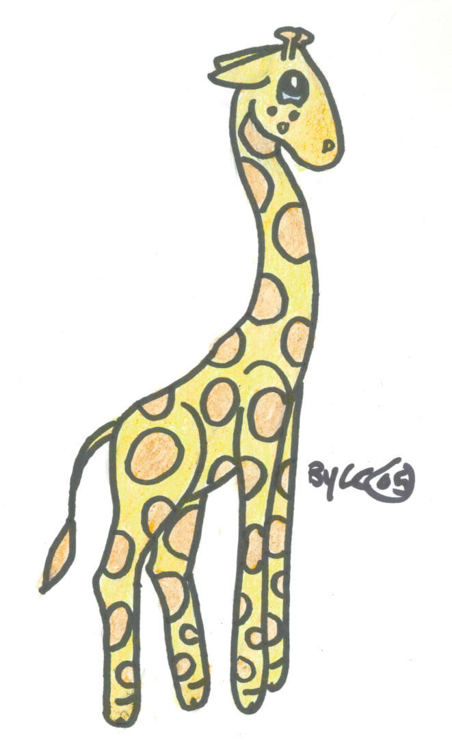 Cute Art-Giraffe by sassyfrazzy on DeviantArt