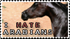 I Hate Arabians Stamp by Fauks