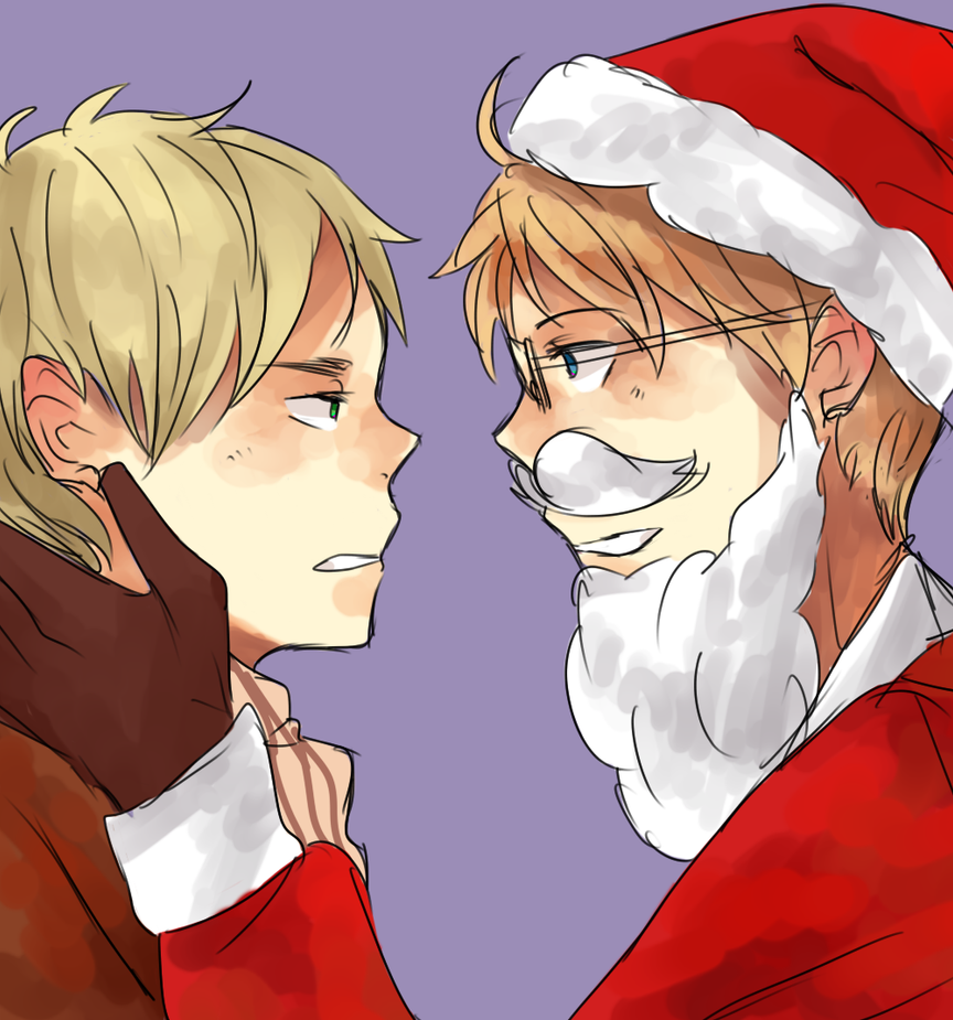 kiss santa by cremena