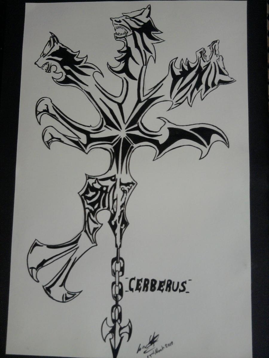 Cerberus Tattoo Designs Dirge of cerberus charm by
