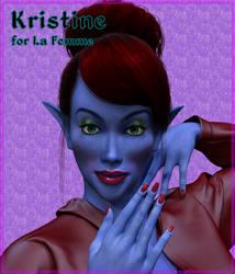 Kristine for La Femme