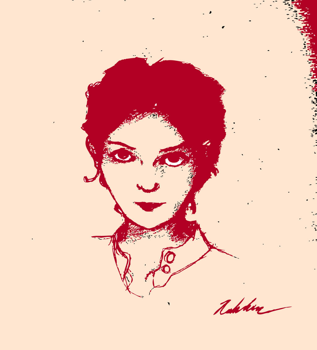 Audrey Tautou in Red Ink by drawing-wannabe