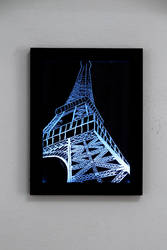 Eiffel Tower glass picture