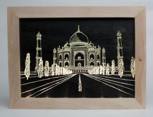 Taj Mahal glass picture