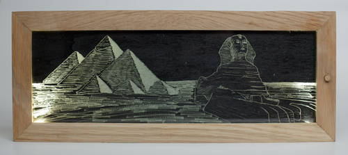 Egypt glass picture