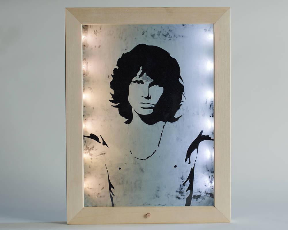 Jim Morrison etching portrait