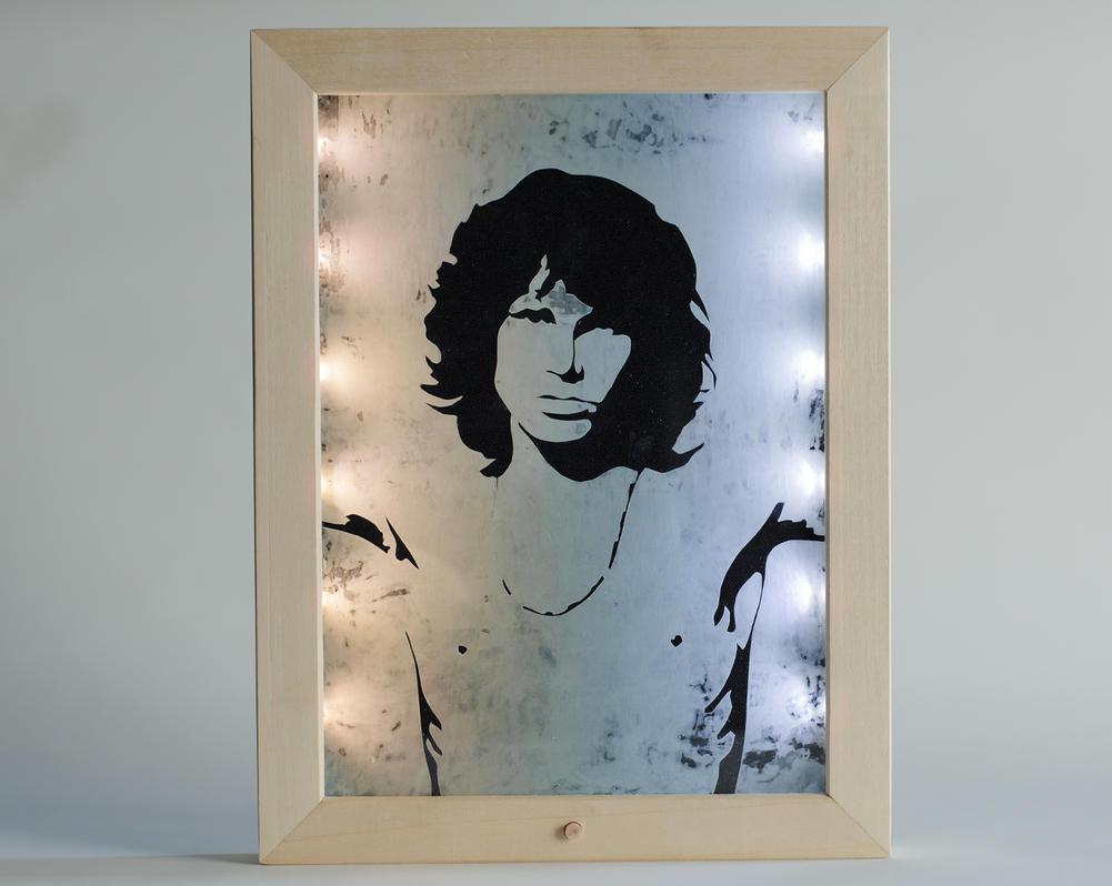 Jim Morrison etching portrait by cicciojus