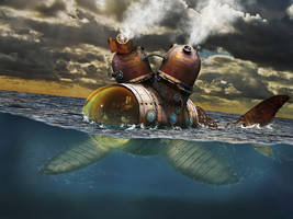 Steampunk Ocean Cruiser by walkmaz