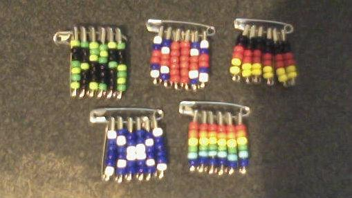 beaded safety pin pins by teichiyakushi on deviantart