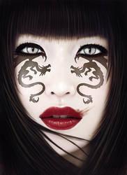 Dragon eyes by JdelNido
