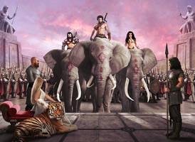 Elephants by JdelNido