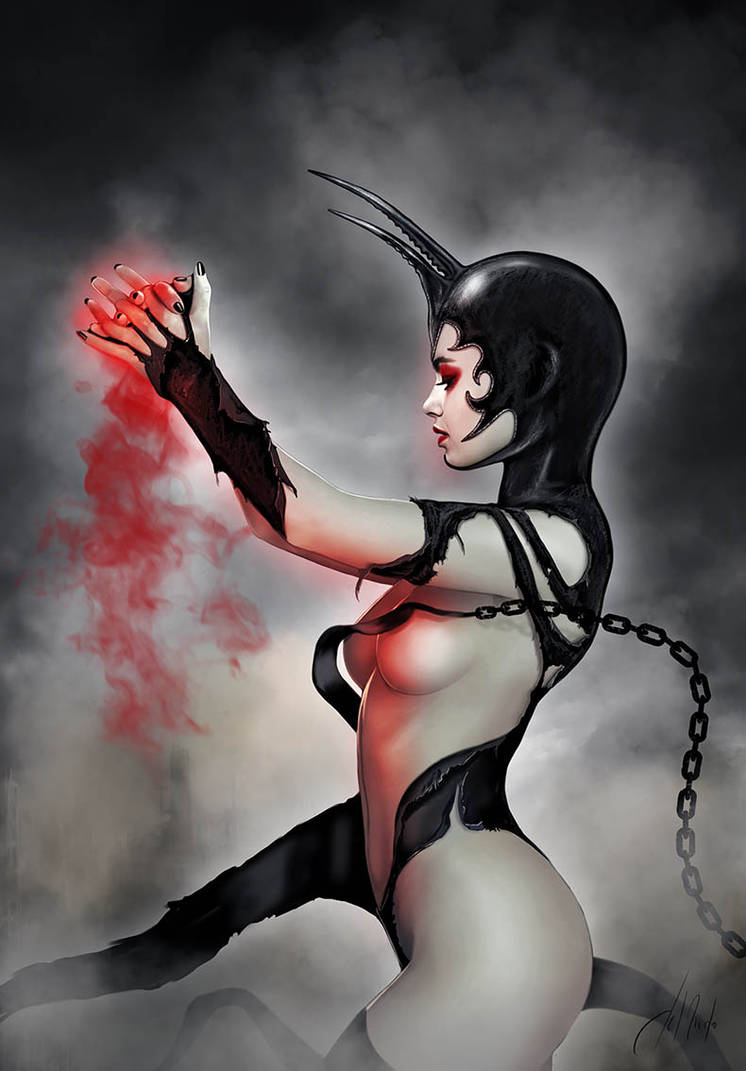 Red On Black by JdelNido