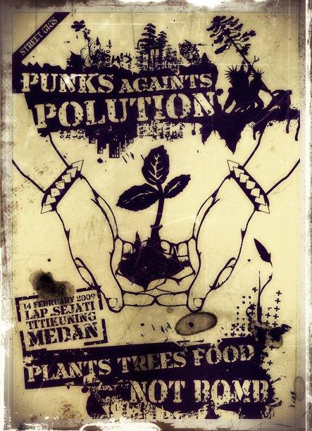 punk againt polution by dinonino