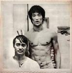 Bruce Lee and Dan inosanto