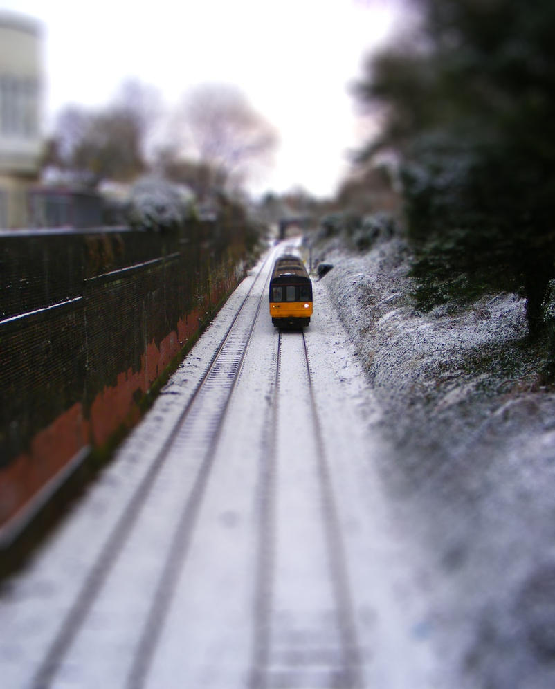 Train - Tilt shift by Vitaloverdose