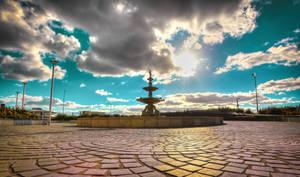 Blue Sky Fountain by Vitaloverdose