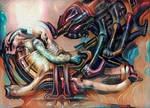 Giger Fresco 3 by Vitaloverdose