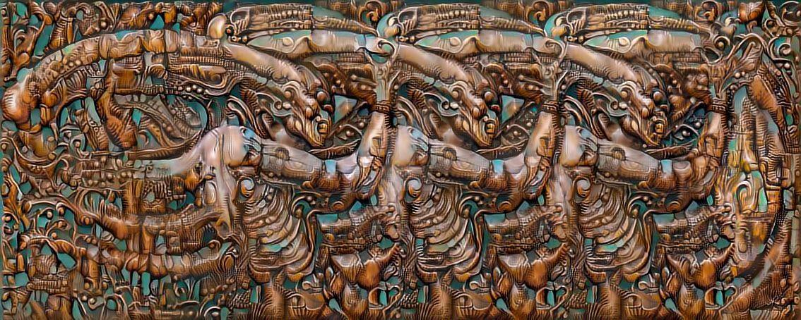 Alien wood carving by Vitaloverdose
