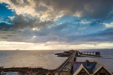 Birnbeck pier sunset by Vitaloverdose