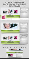 Clean Designer Facebook Timeline Template by frozencolor