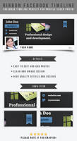 Ribbon Facebook Timeline Template