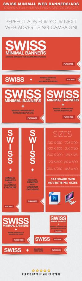 Swiss Minimal Web Banners/Ads