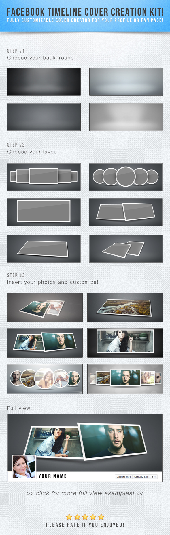 Facebook Timeline Cover Creation Kit by frozencolor