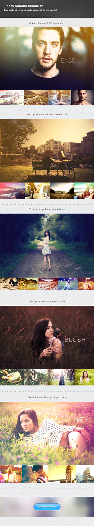 Photography Actions Bundle #1 by frozencolor